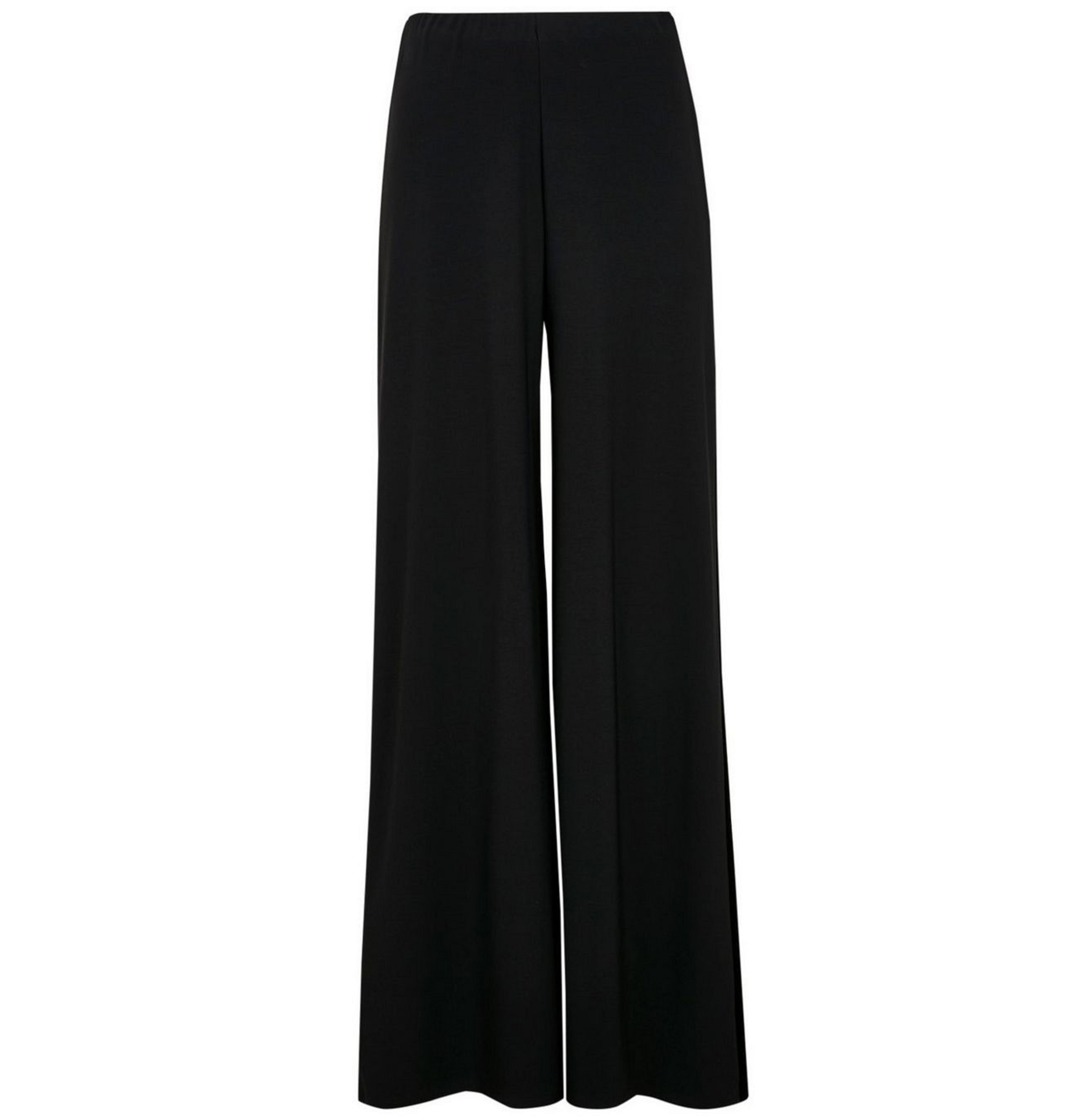Velvet Stripe Wide Leg Trousers