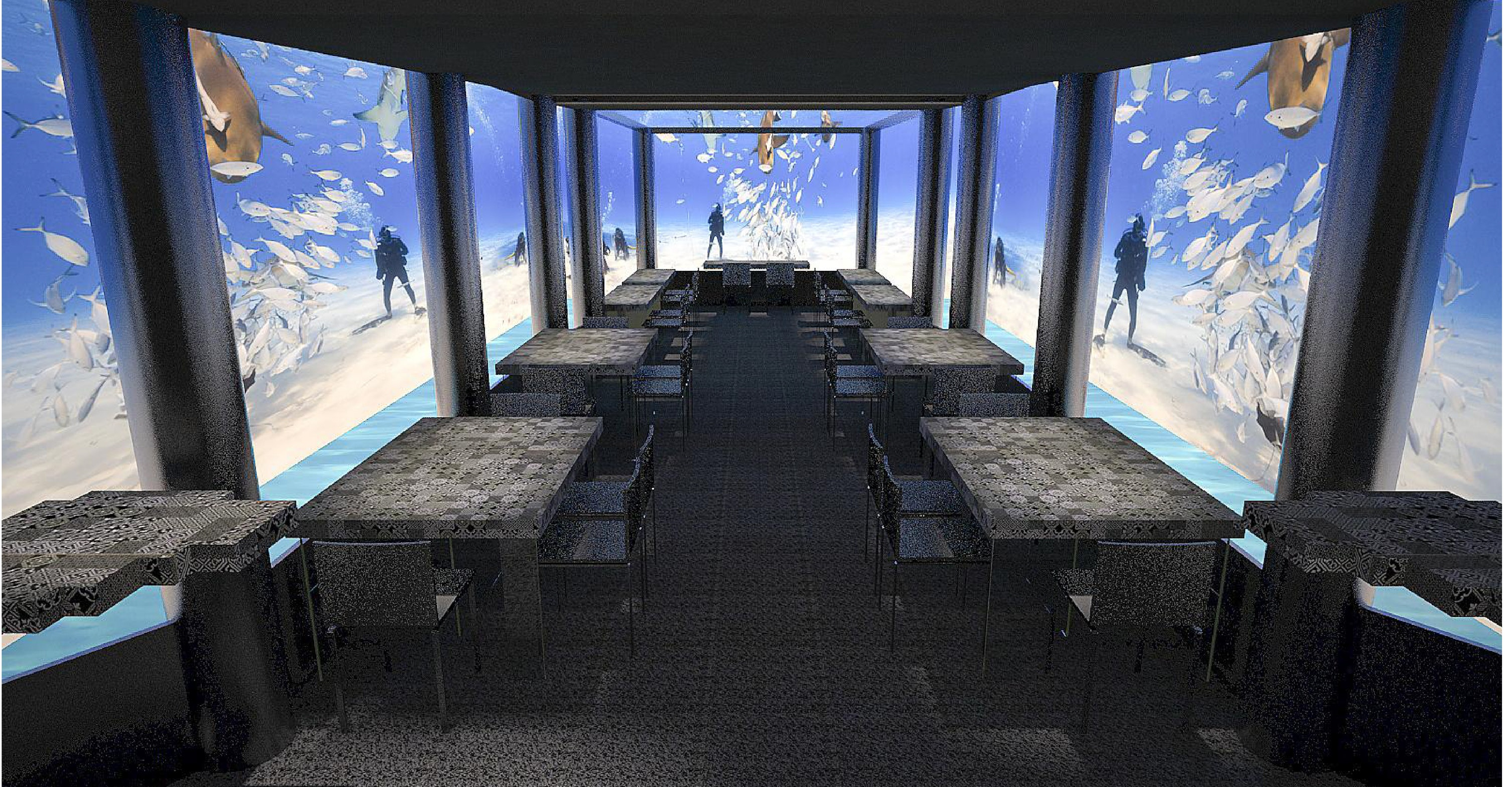 The H2O underwater restaurant