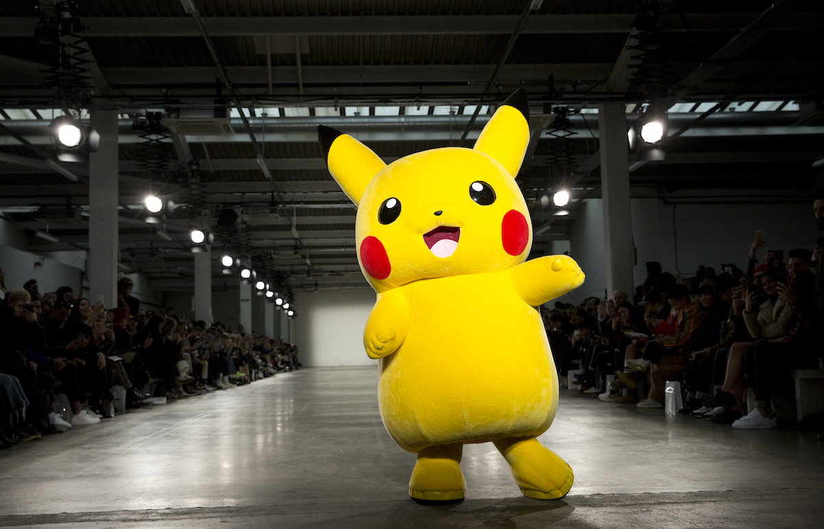 Pikachu on the runway