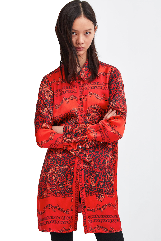 Zara Scarf Print Shirt