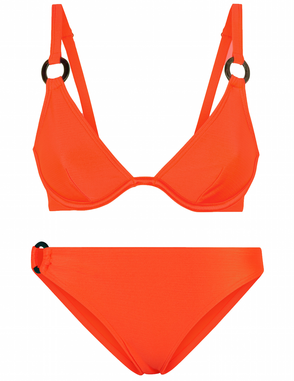 New Look Orange Neon Slinky Resin Ring Bikini