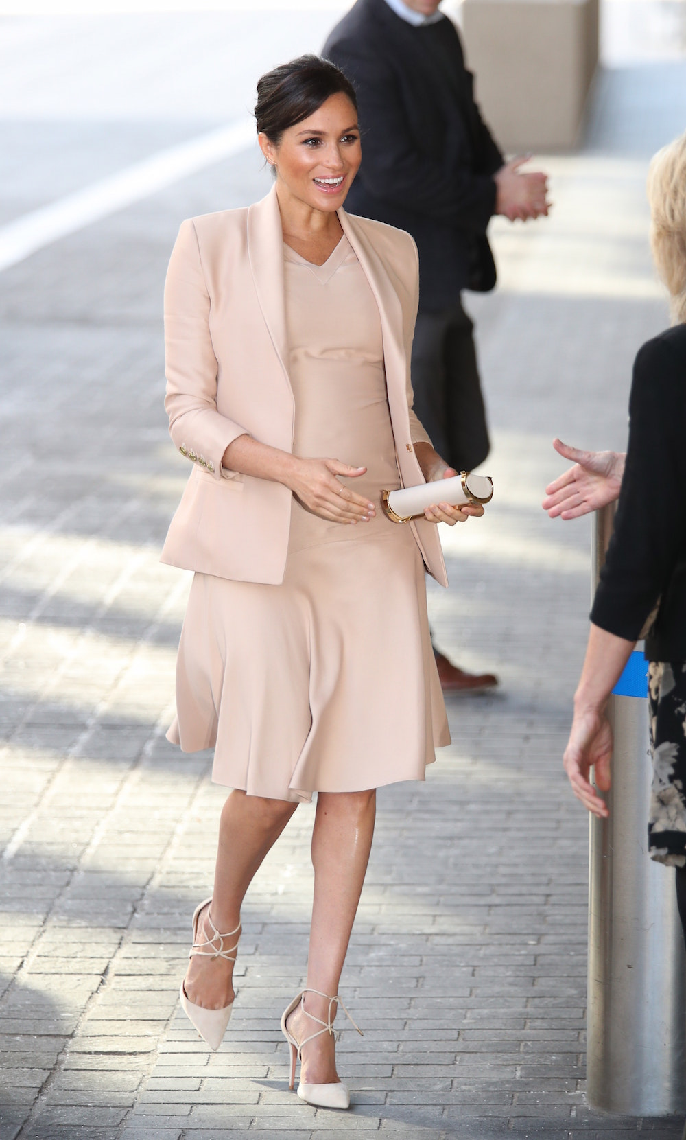 Meghan in Brandon Maxwell Outfit