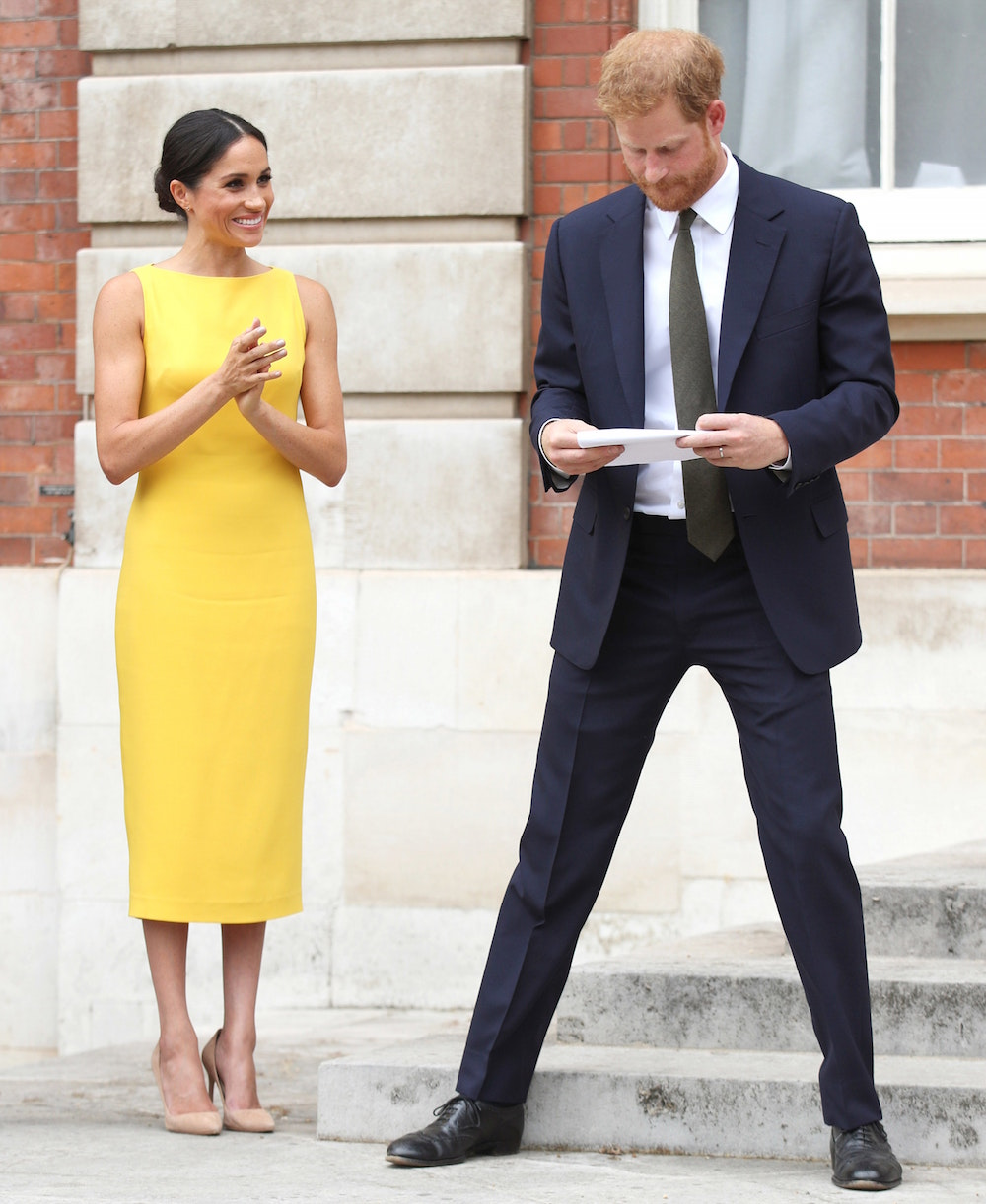 Meghan In previous Brandon Maxwell outfits