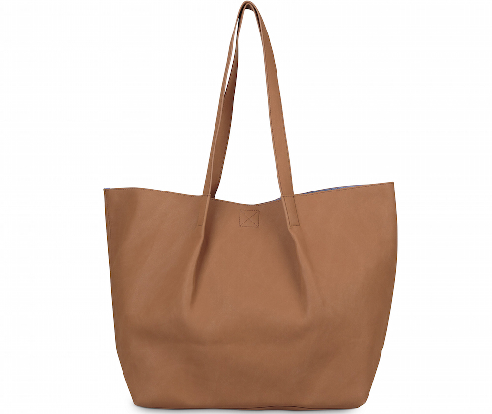 Oliver Bonas Alex Tapered Tan & Blue Tote Bag