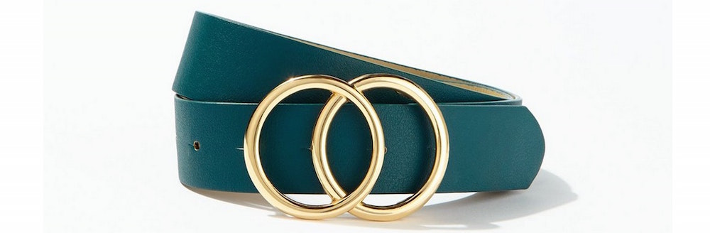 Miss Selfridge Green Circle Jeans Belt
