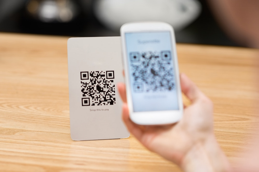 A QR code for the Wi-Fi