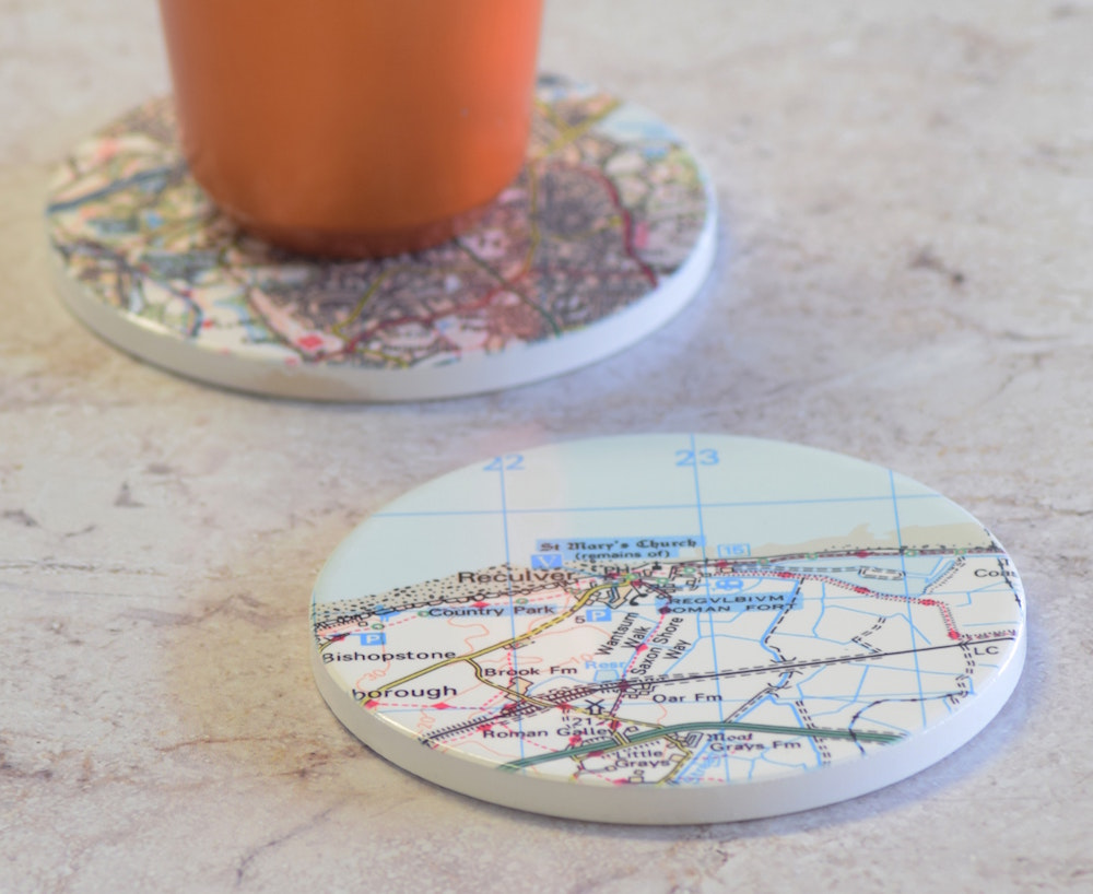 Postcode Coasters
