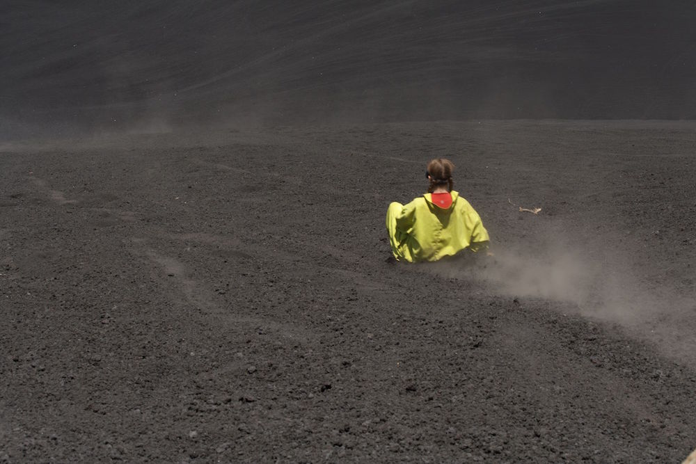 Sled Down A Volcano
