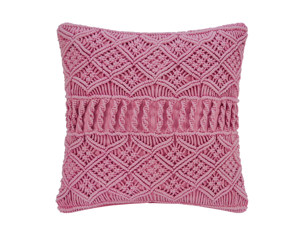 A by Amara Grid Crochet Cushion