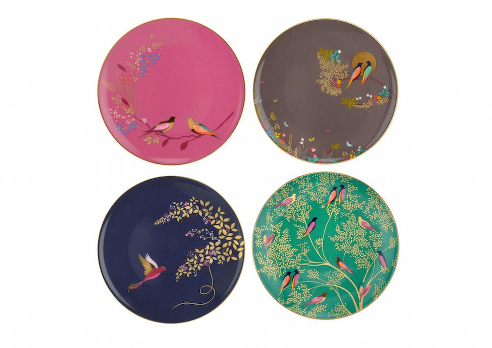 Sara Miller London Portmeirion Chelsea Collection Cake Plates
