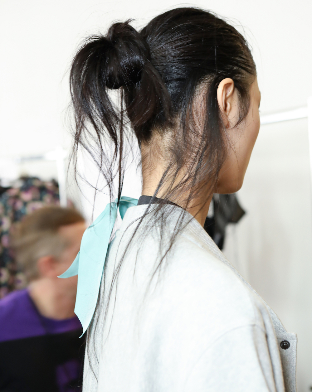 Model backstage at olivier theyskens SS19