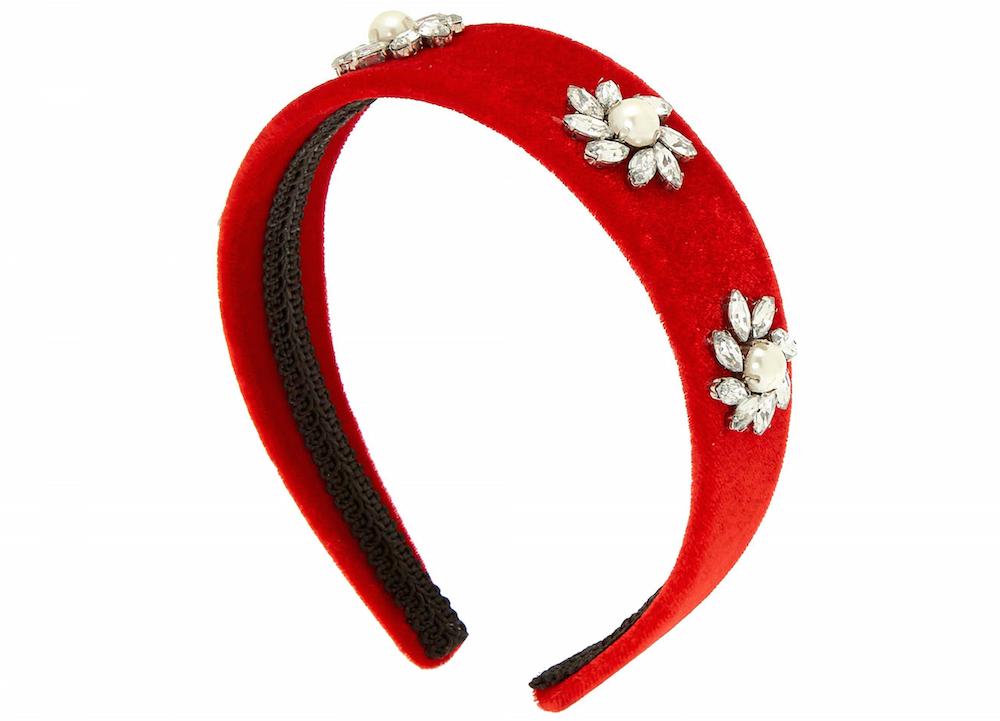 Claire's Red Velvet Stone Headband
