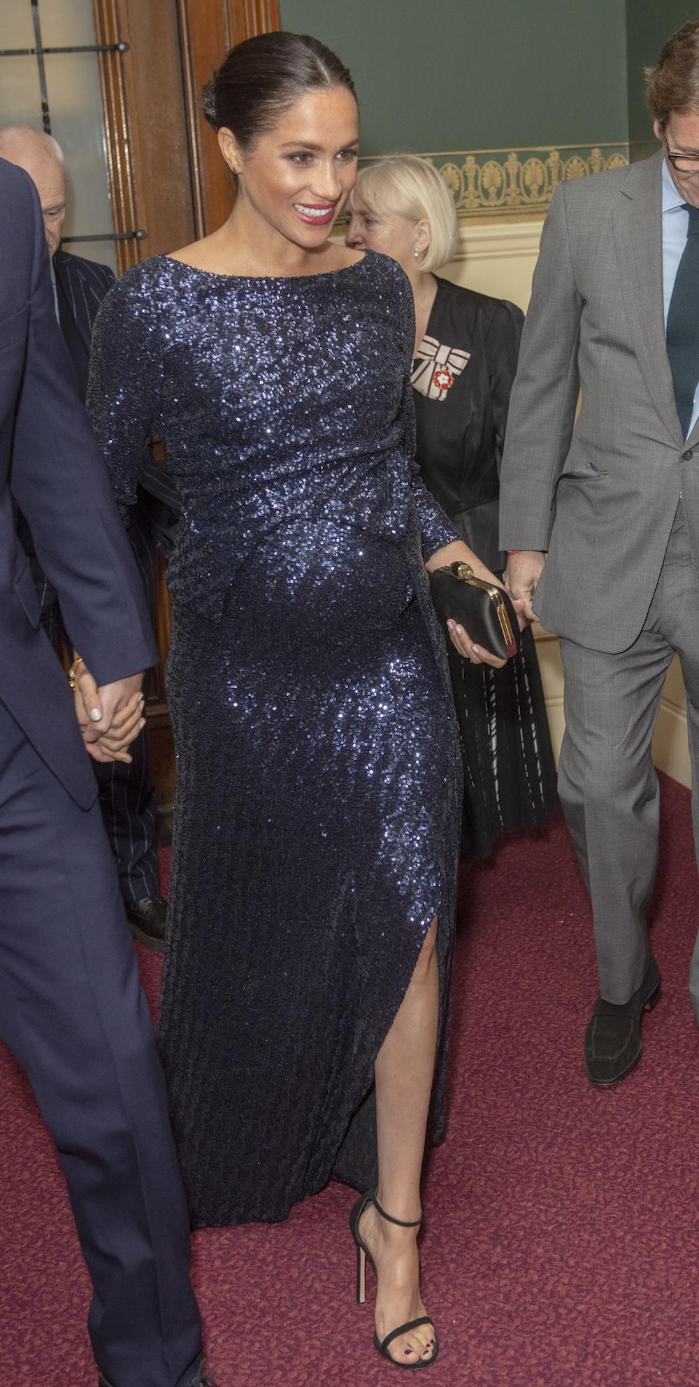 Meghan at the Royal Albert Hall in January