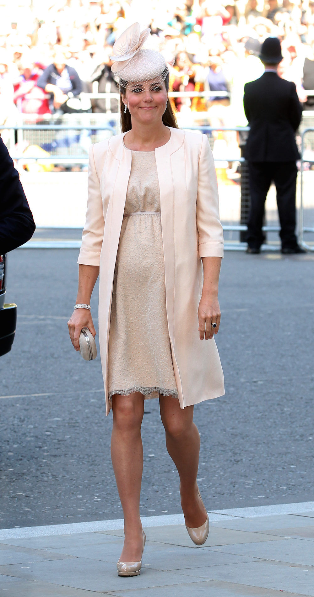 Kate arrives at Westminster Abbey in June 2013