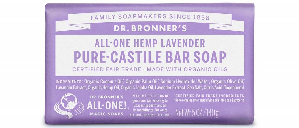 Dr. Bronner's Pure-Castile Lavender Bar Soap