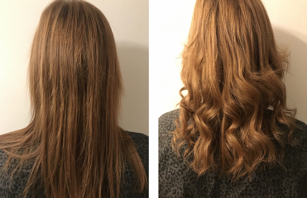 Erin transformed her hair from flat to fabulous with the Chopstick Styler