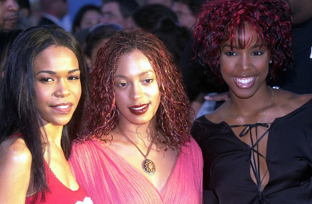 Solange (centre) with Michelle Williams (left) and Kelly Rowlands (right