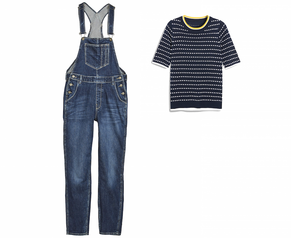 Fatface Mid Blue Denim Dungarees