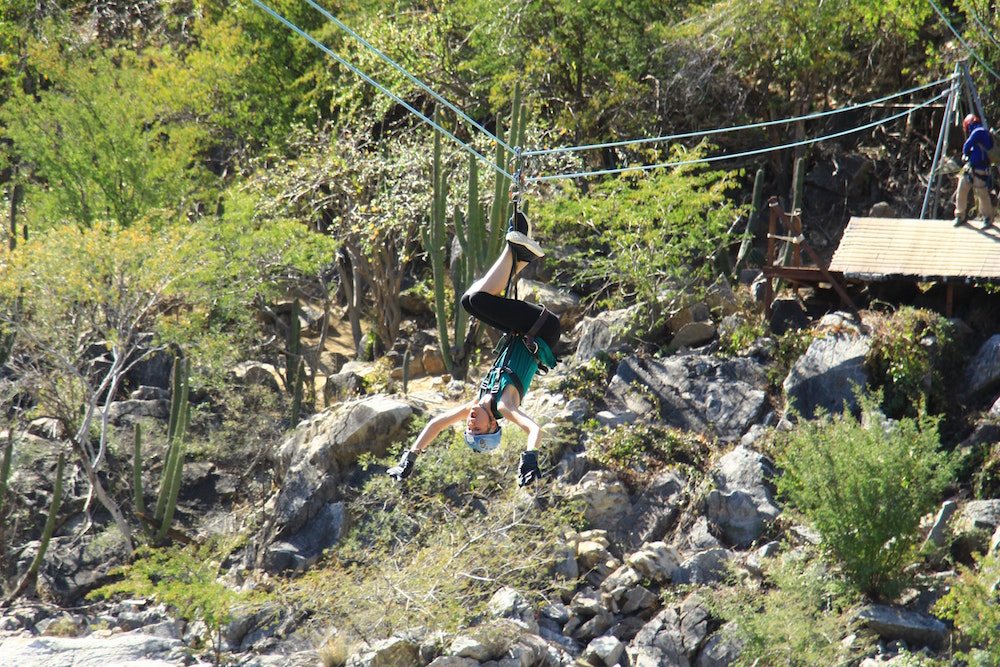 Zooming along a zipline