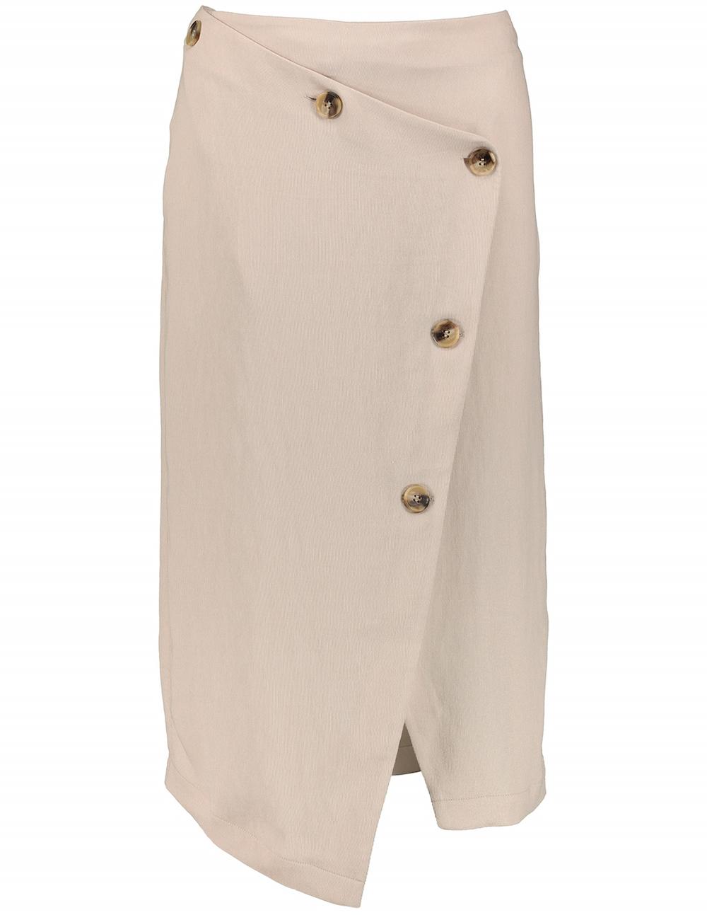 Tu at Sainsbury's Premium Oatmeal Button-Down Asymmetric Skirt