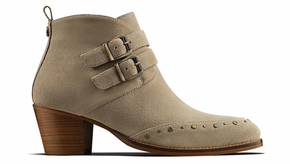 DuoBoots Taupe Suede Emilia Statement Ankle Boots