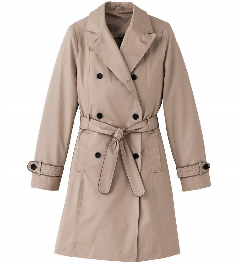 Damart Beige Pastel Trench Coat
