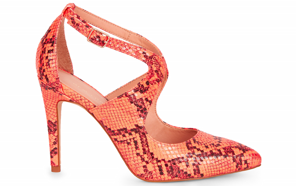 New Look Coral Neon Faux Snake Courts