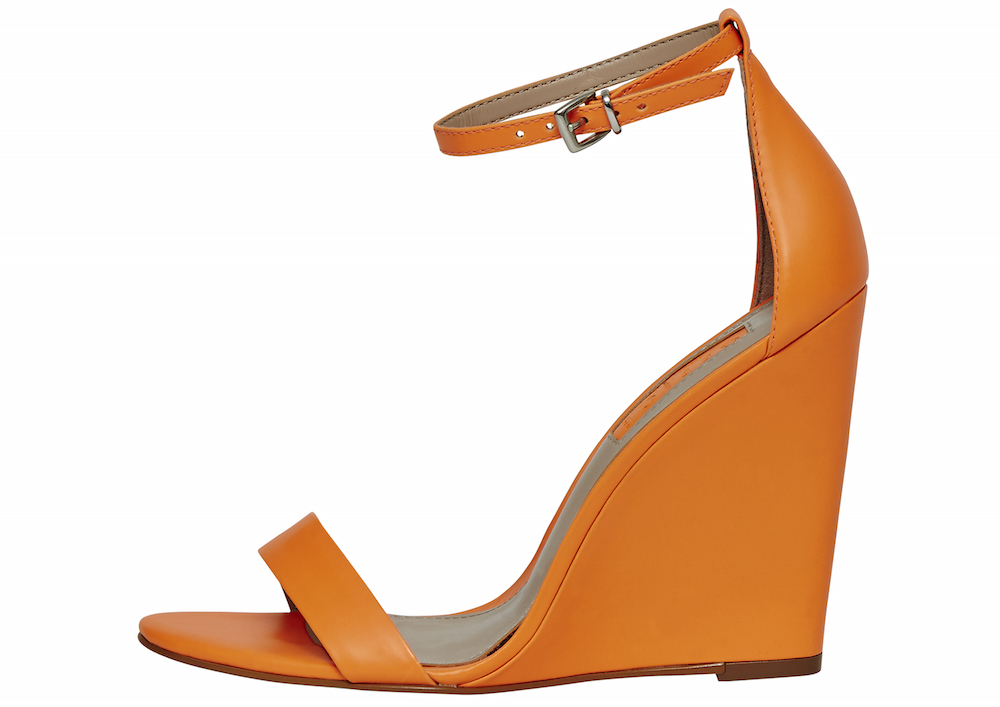 Office Hoot Fluro Orange Two Part Slim Wedges