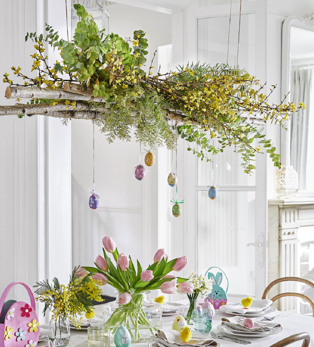 Spotty/Floral Egg Hanging Decorations