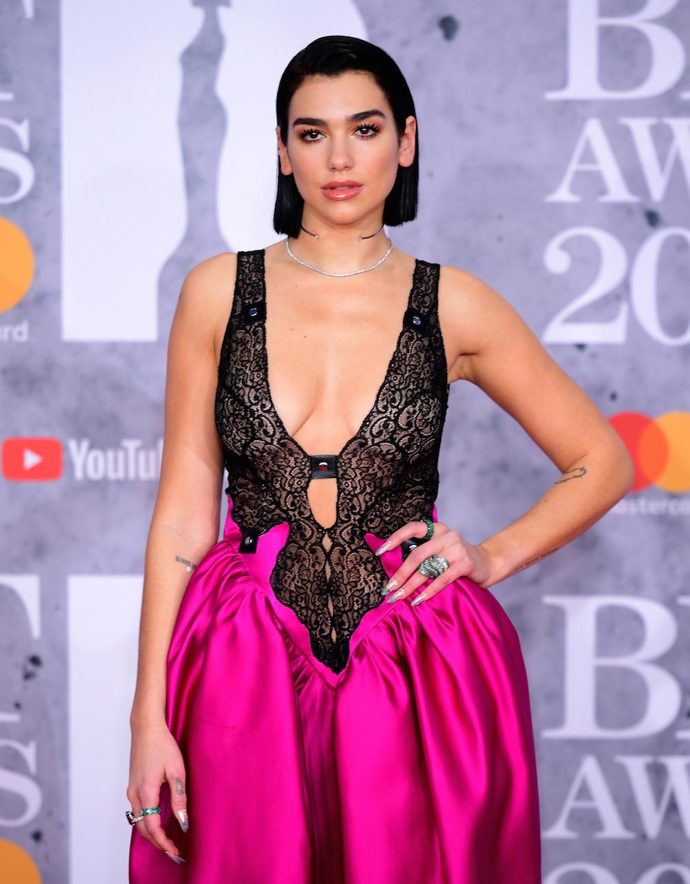 Dua Lipa attending the Brit Awards 2019