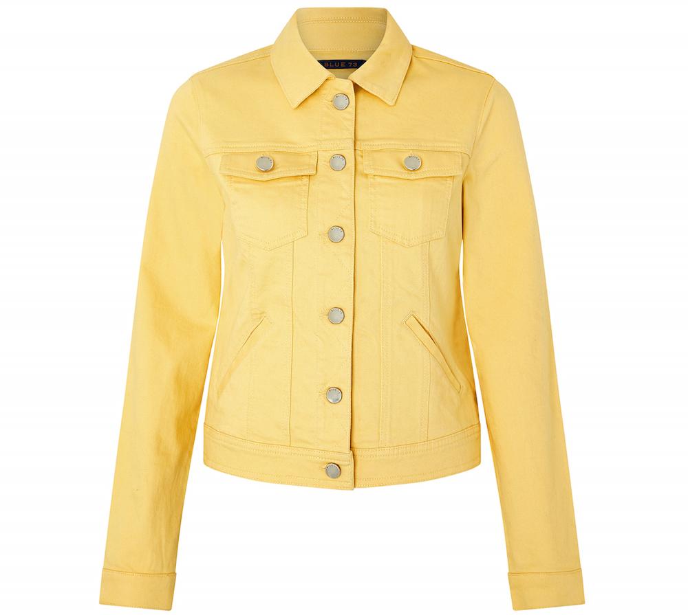 Monsoon Adrianna Yellow Denim Jacket