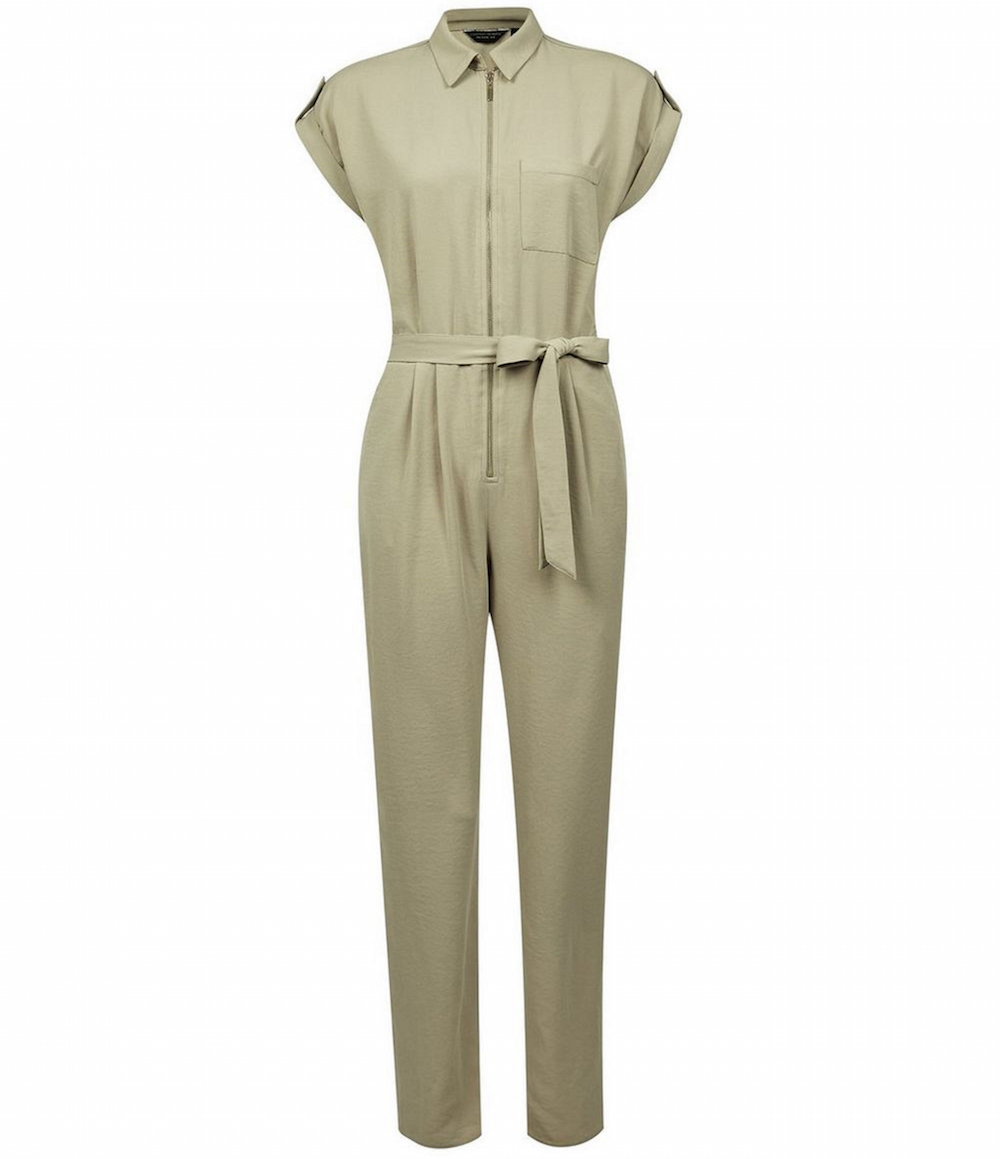 Dorothy Perkins Khaki Short Sleeve Boilersuit