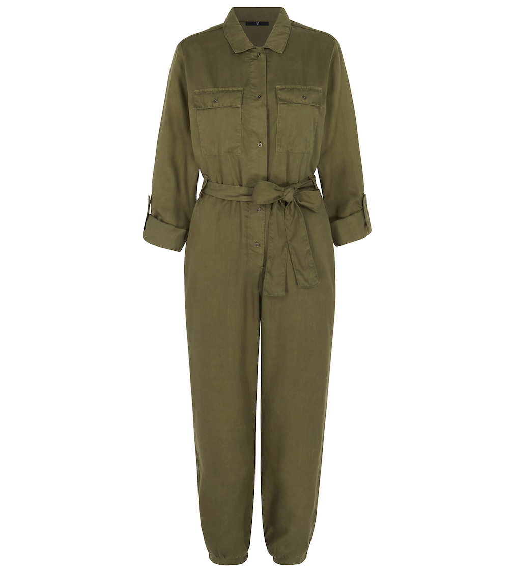 V by Very Button Through Jumpsuit
