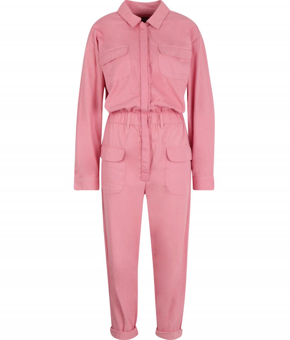Boohoo Pink Utility Denim Boiler Suit