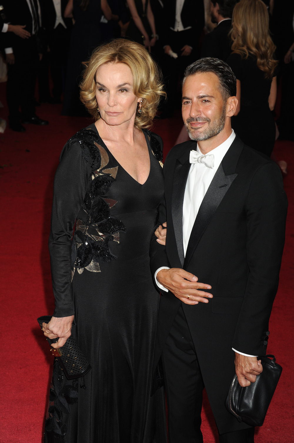 Jessica Lange and Marc Jacobs