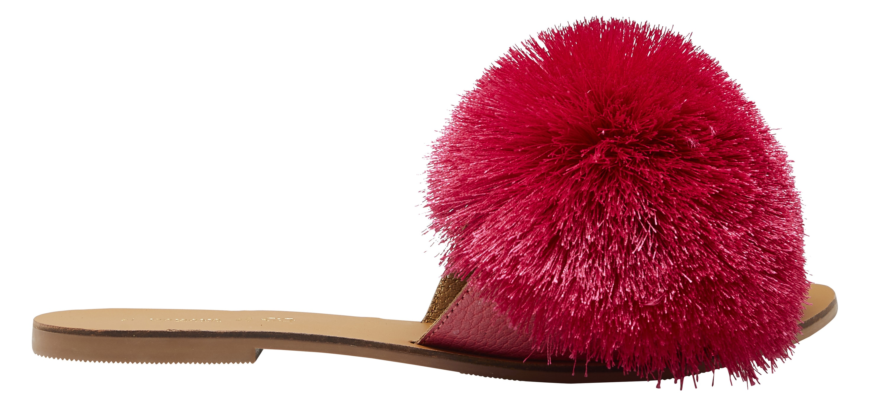 Matalan Pink Pom Pom Mule Sandals, £14/AED65.38