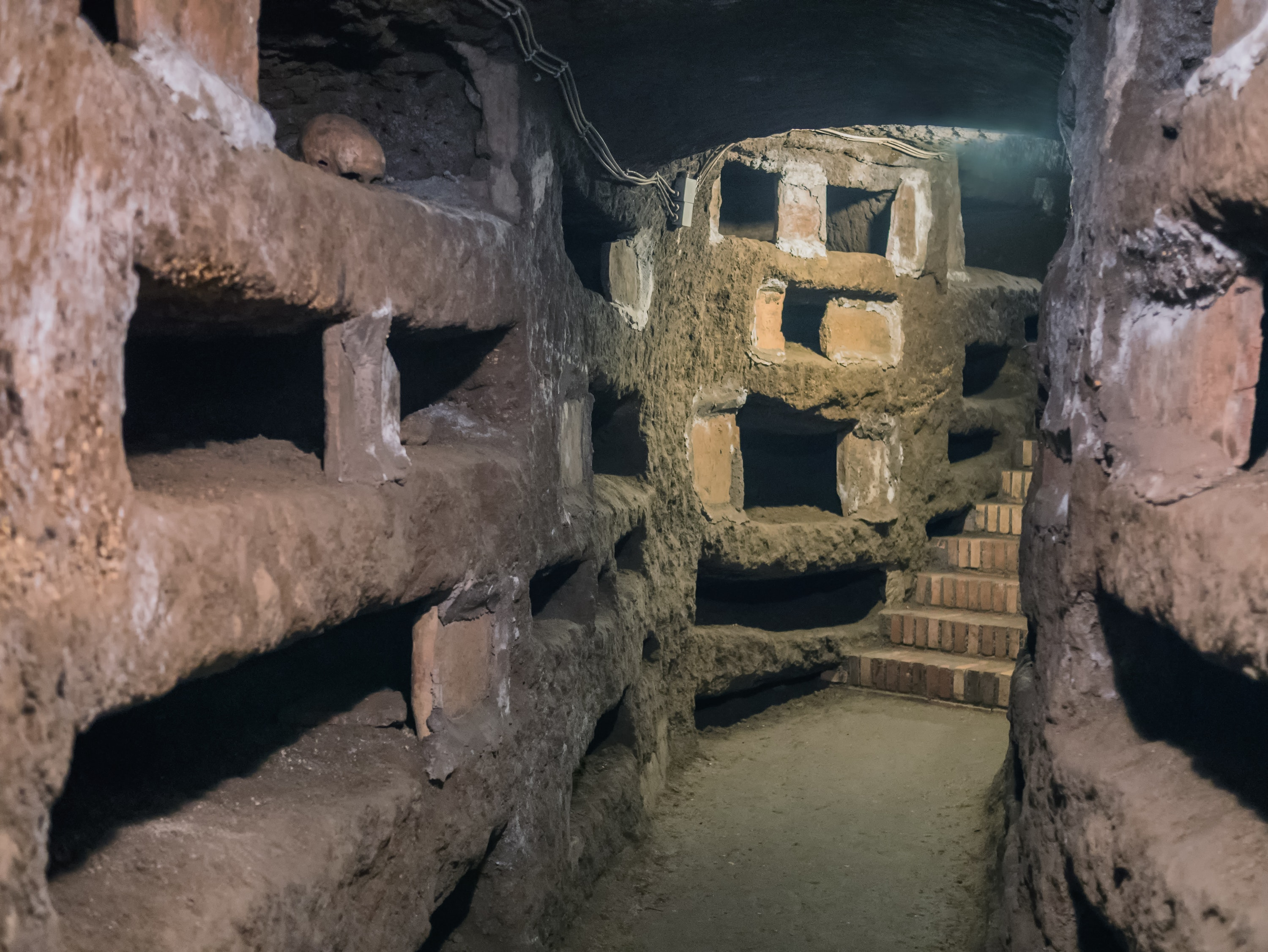 Investigate the catacombs