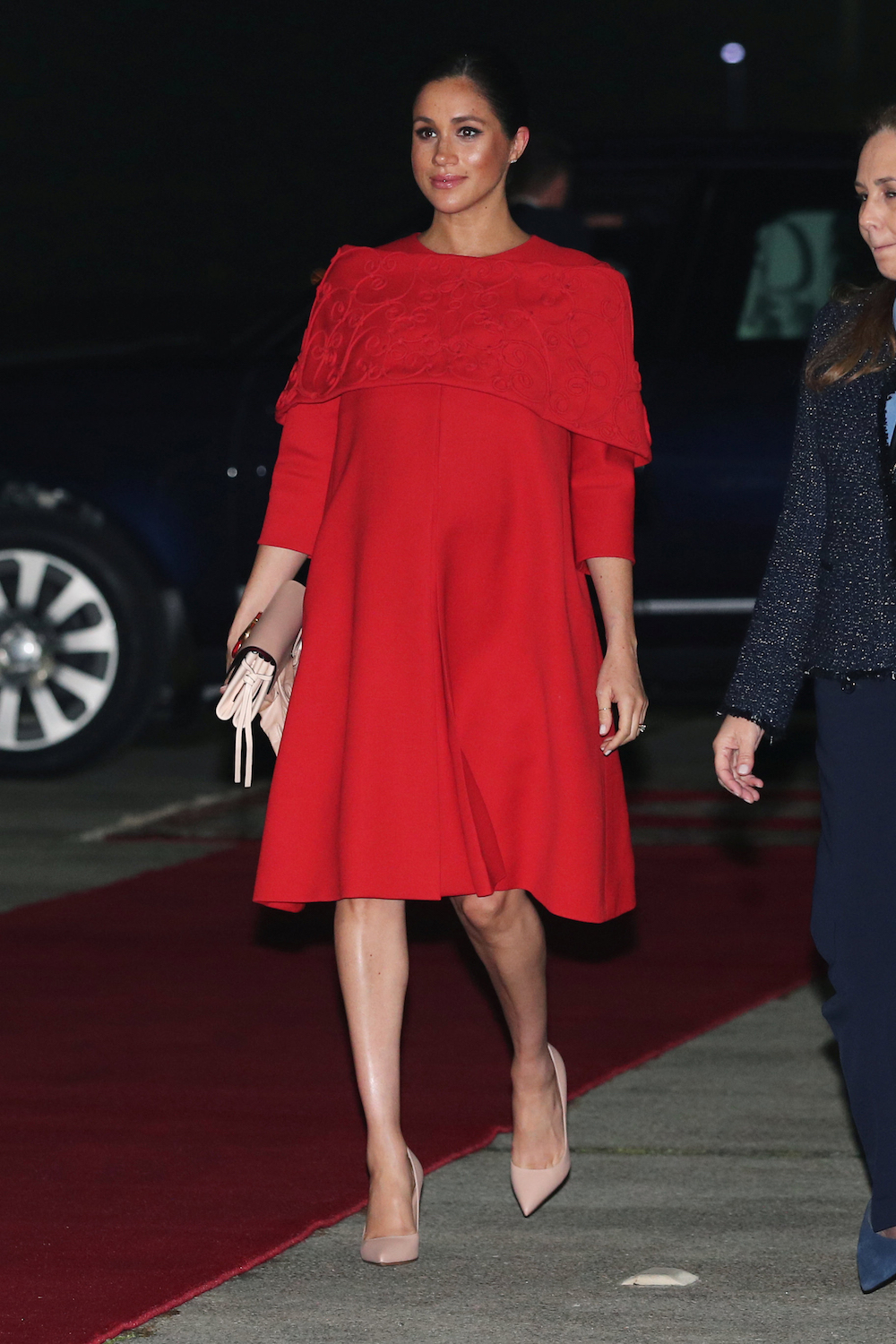 The Duchess of Sussex on her arrival at Casablanca airport, for her tour of Morocco