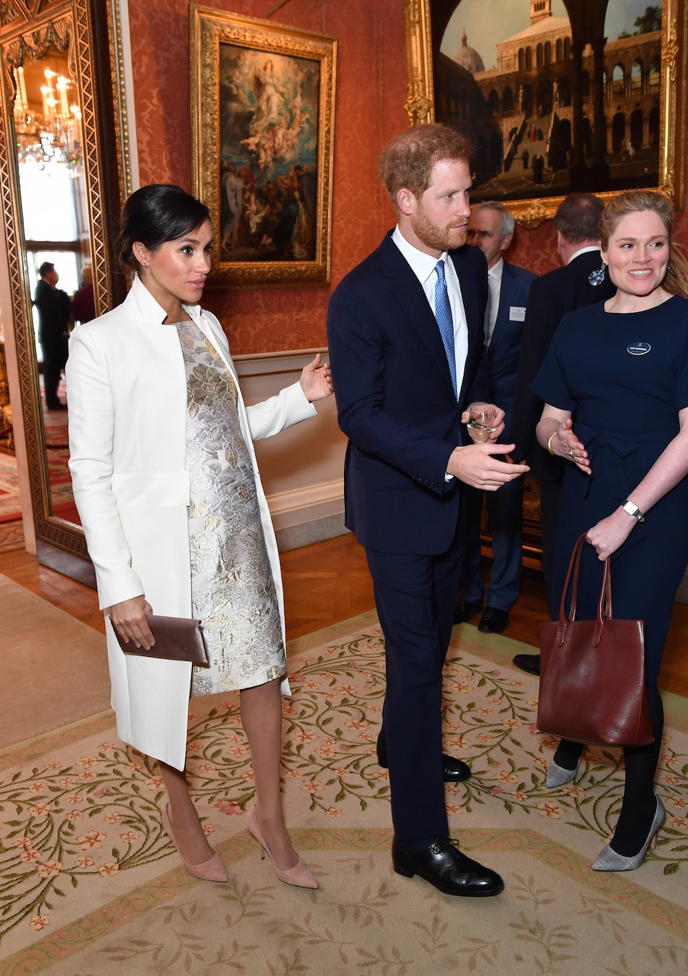 Duke and Duchess of Sussex at the reception at Buckingham Palace