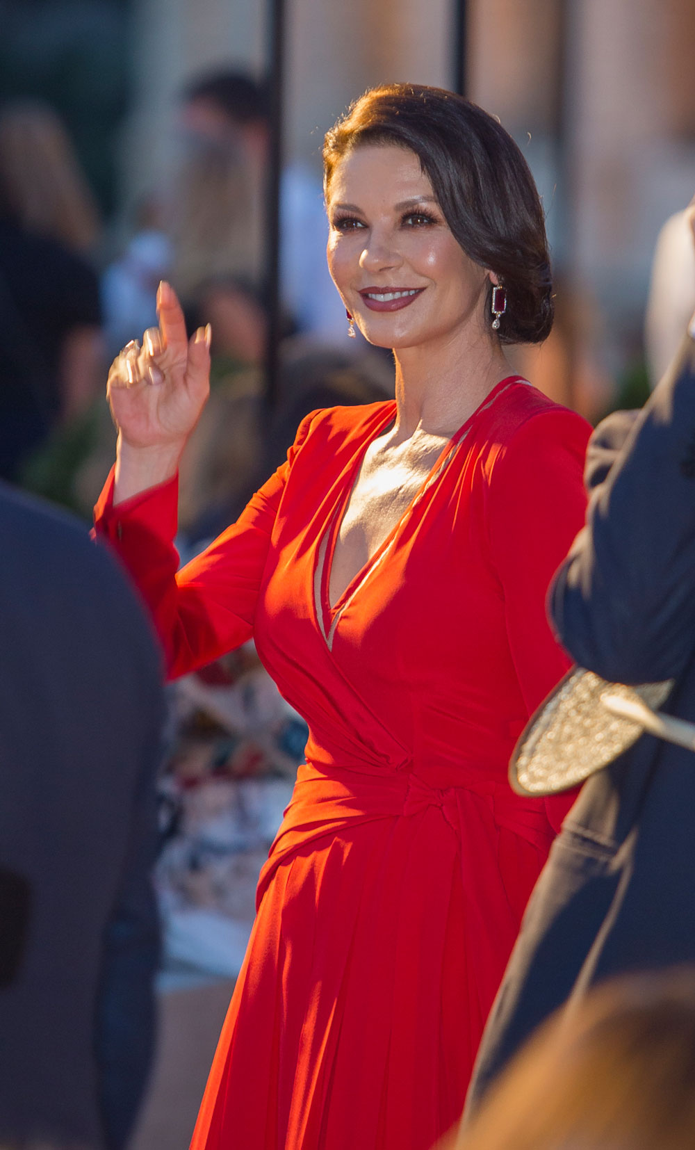 Catherine Zeta-Jones attended the show with her daughter