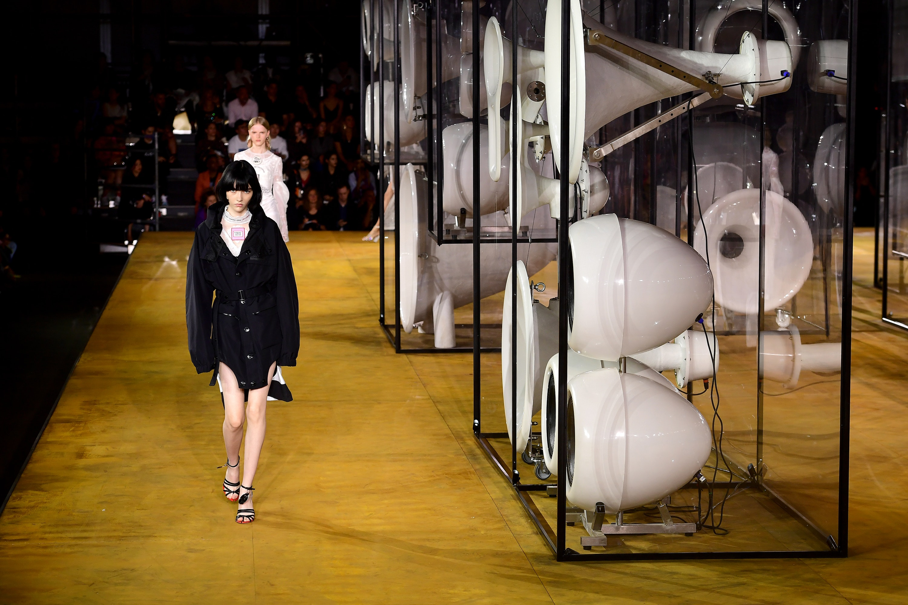 Models on the catwalk for the Burberry Spring/Summer 2020
