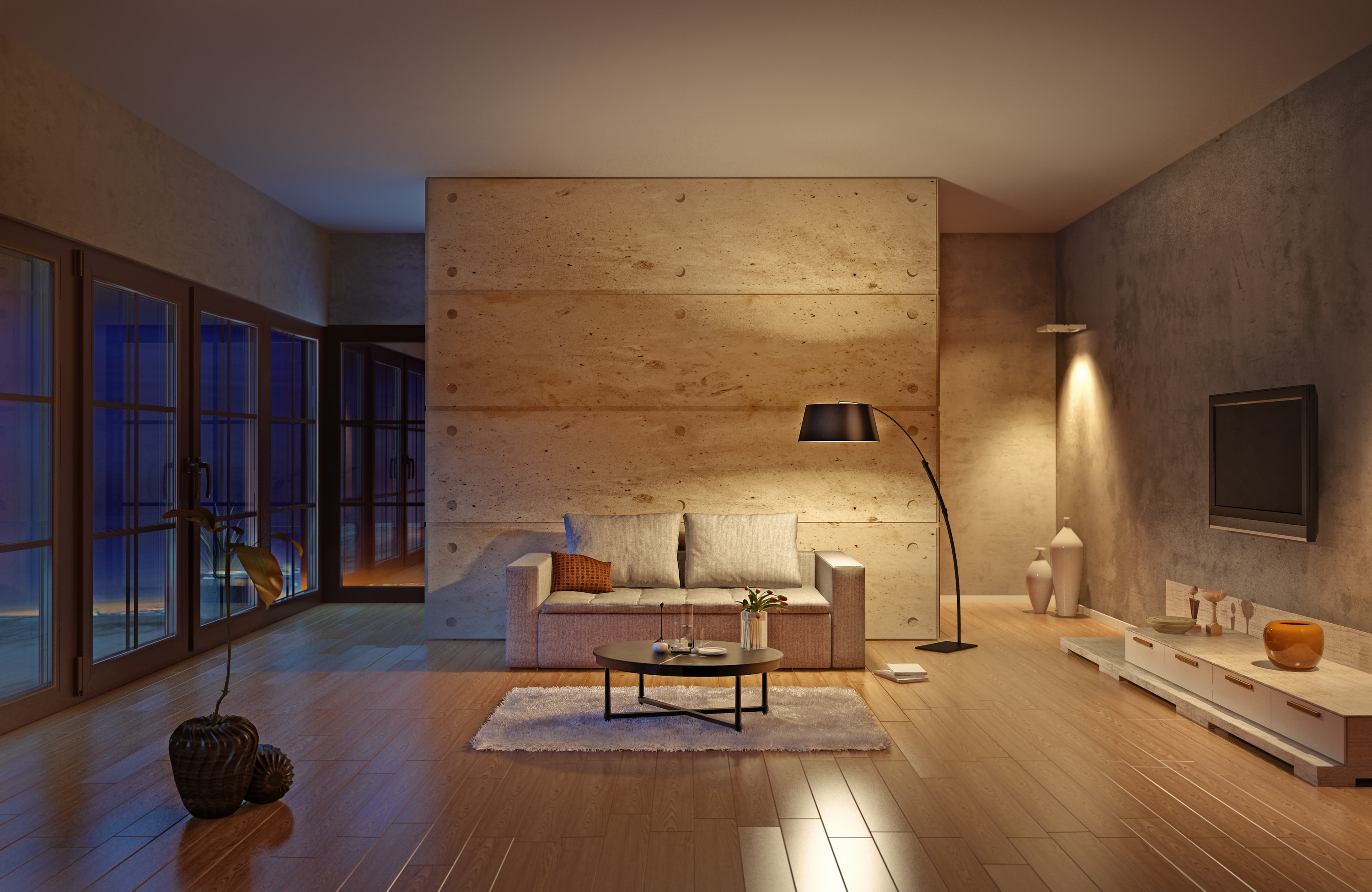 Create a s soft glow effect on walls