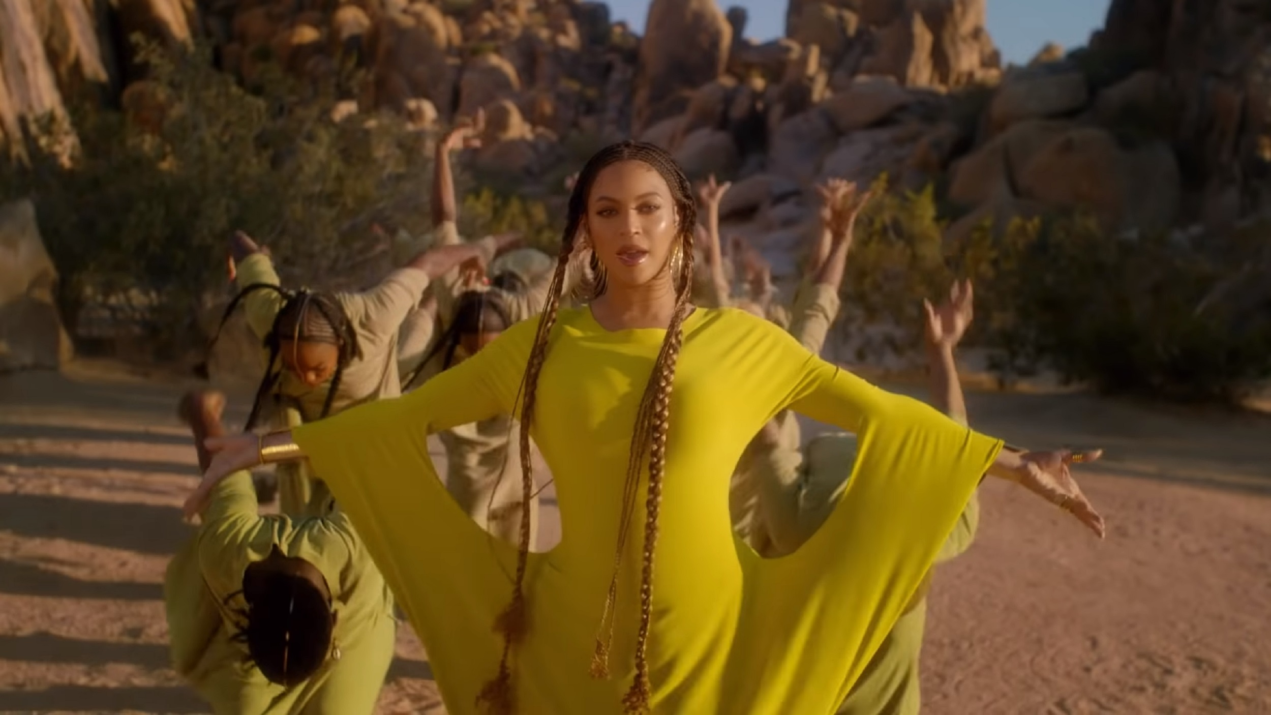 The stretchy yellow outfit