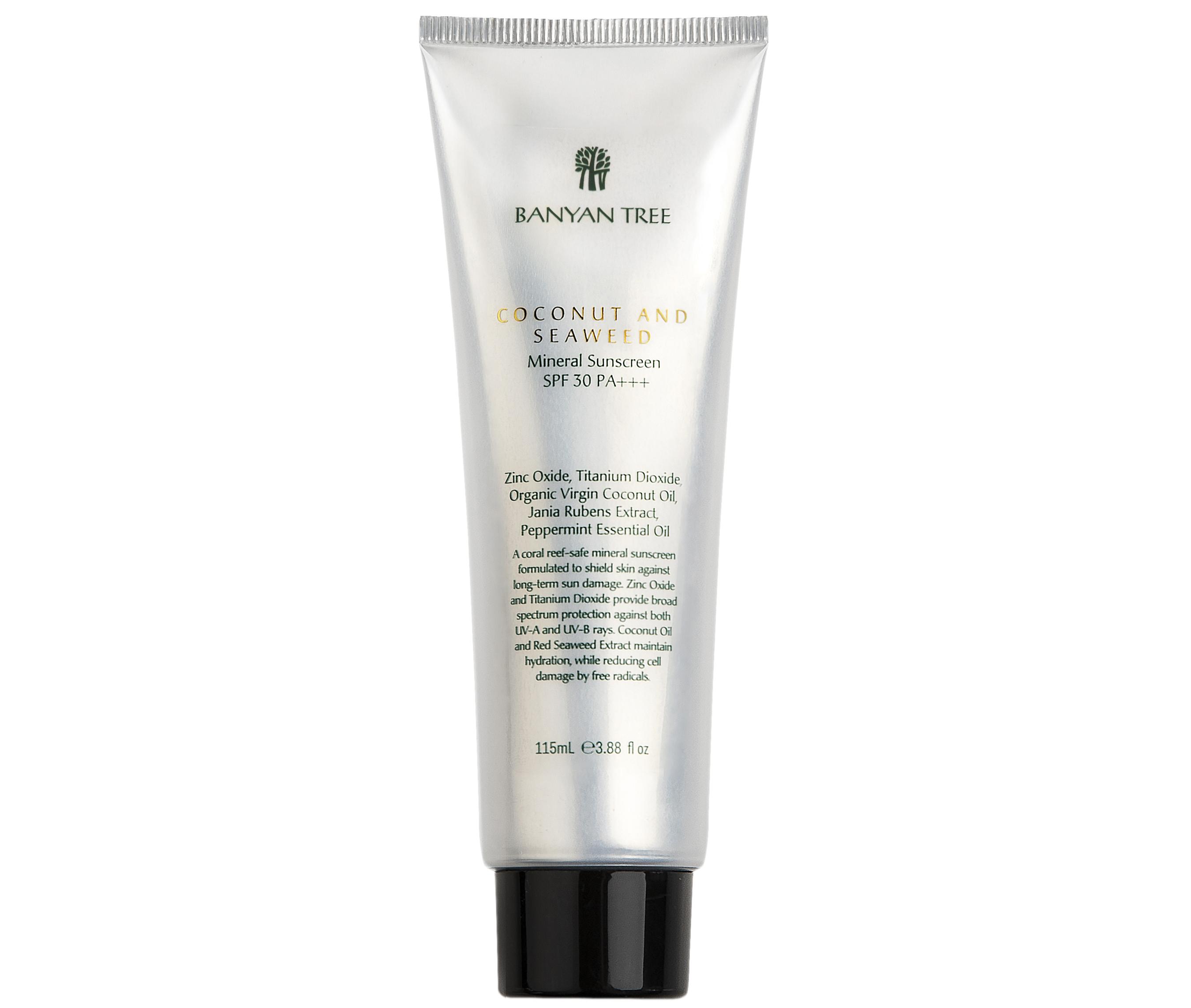 Banyan Tree Coconut & Seaweed Mineral Sunscreen SPF 30 PA+++, £32.90/AED146.91