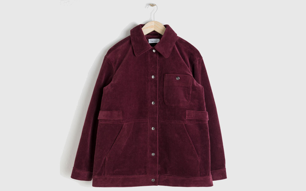 And Other Stories Oversized Corduroy Workwear Jacket, £85/AED385.67