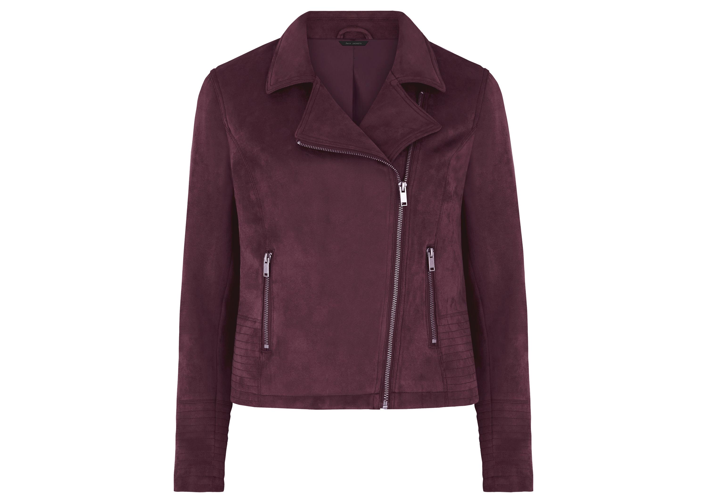 Bonmarche Plum Suedette Biker Jacket, £45/AED204.18
