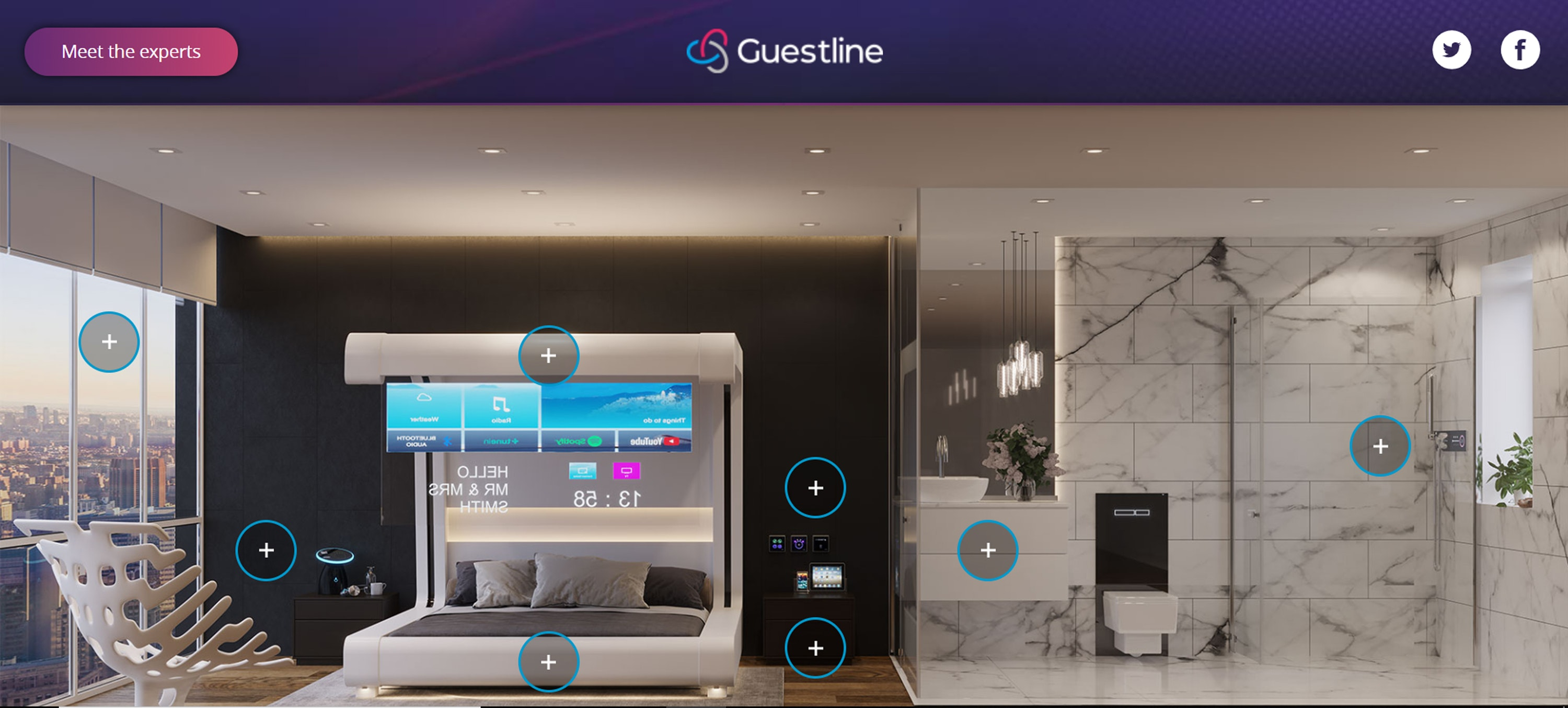 This is what hotel rooms could look like in the future