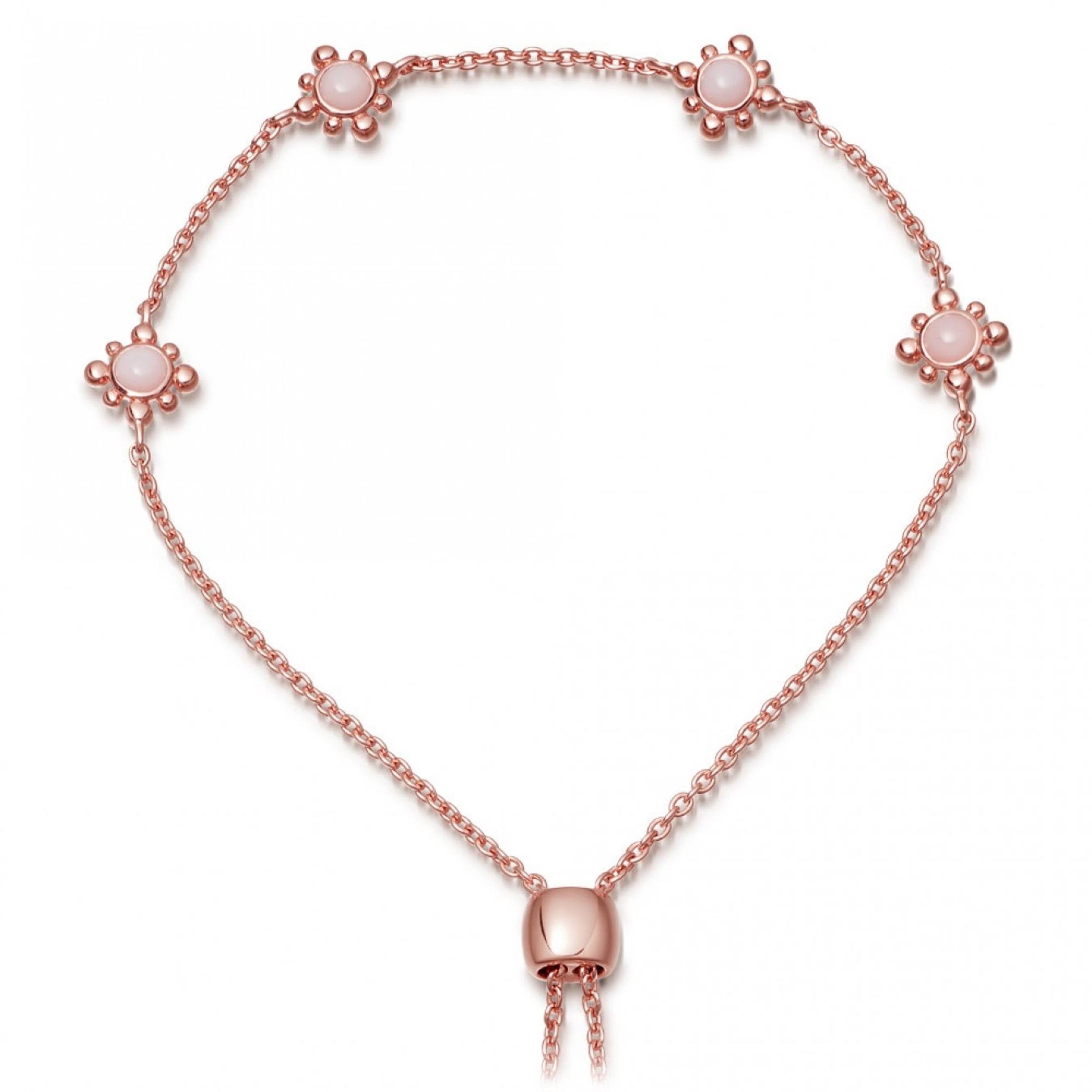 Astley Clarke Pink Opal Floris Kula Bracelet