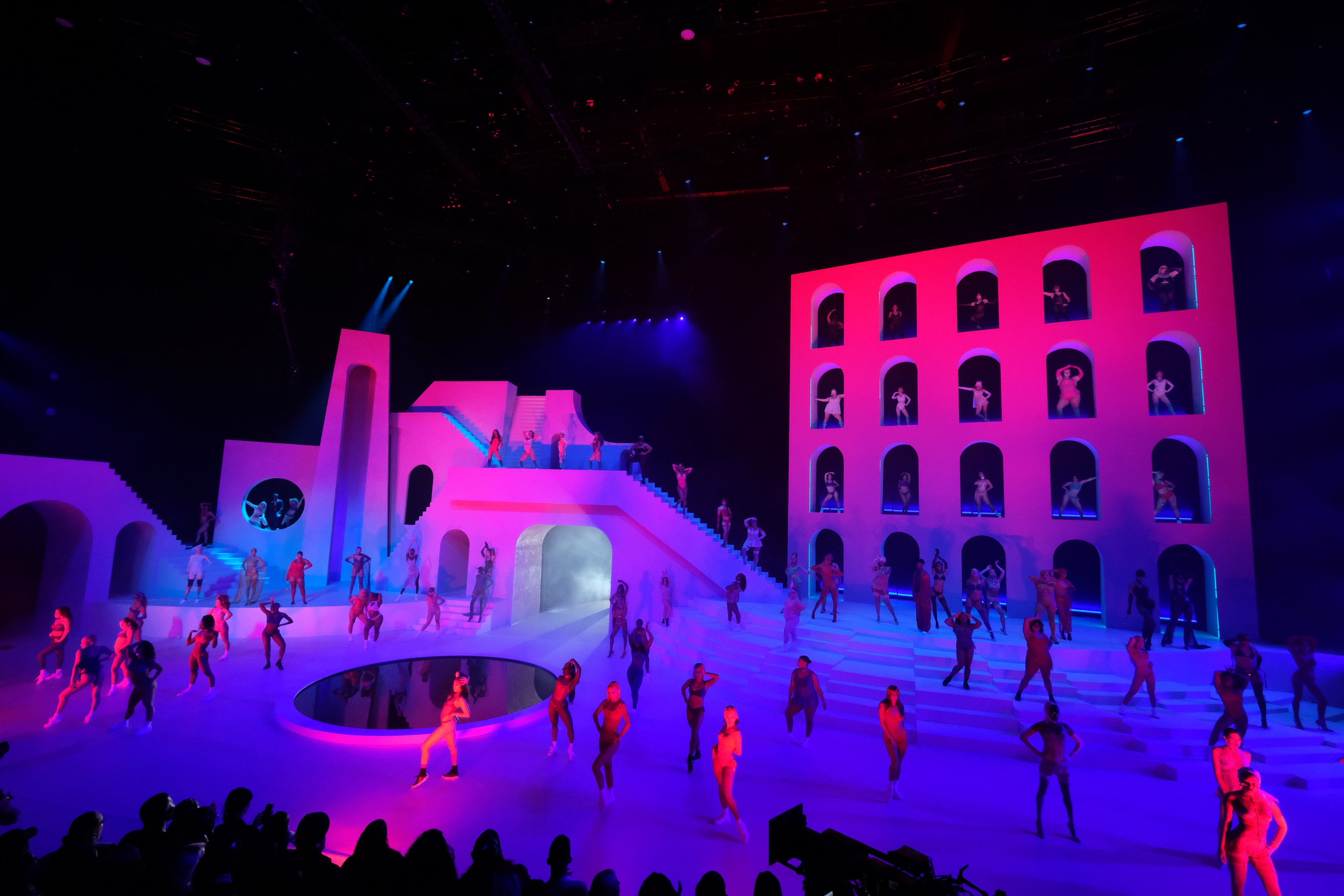 The set was unlike any other fashion show