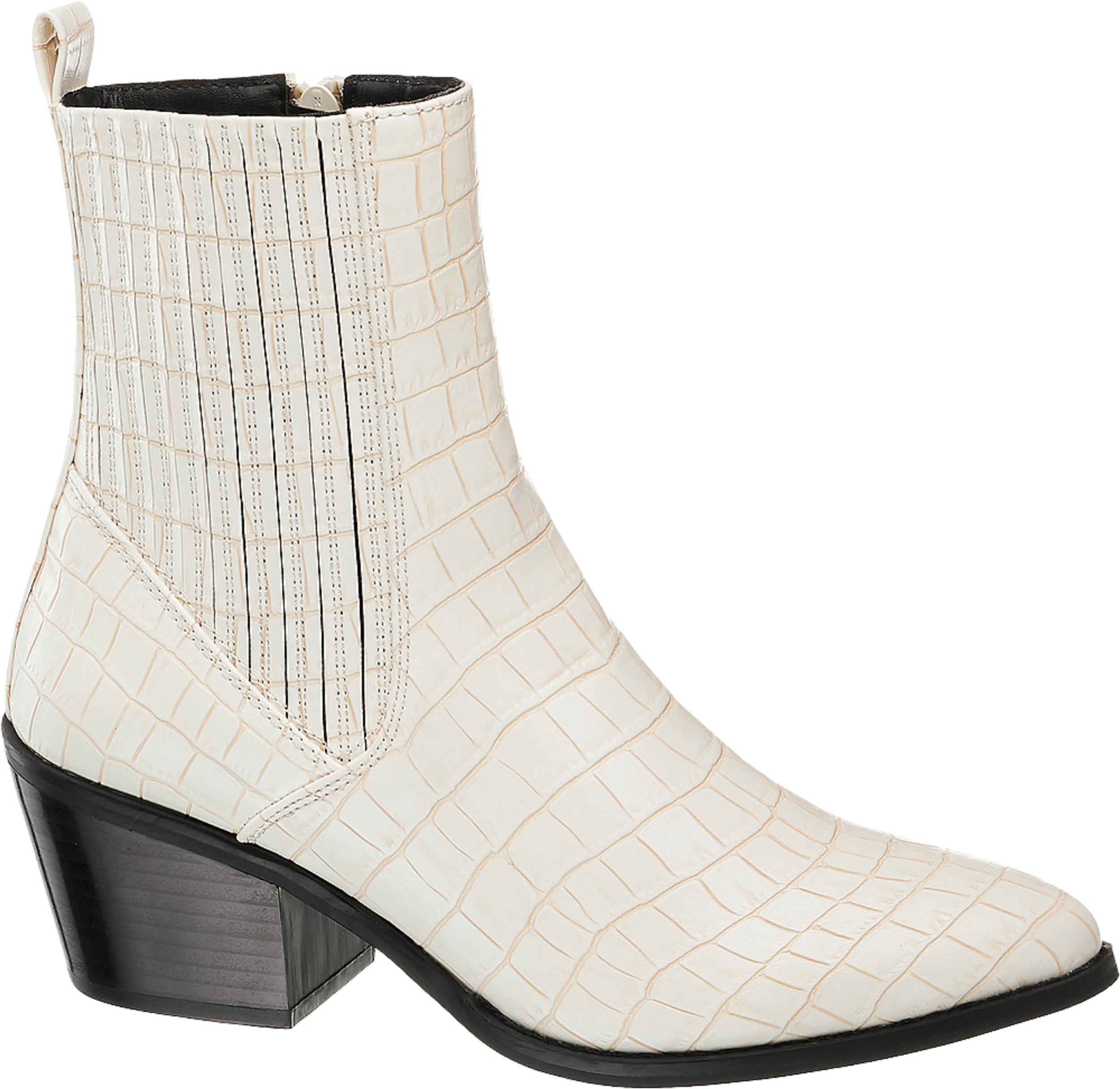 White Croc Vero Moda Toa  Western Ankle Boots, £49.99/AED225.65, Deichmann